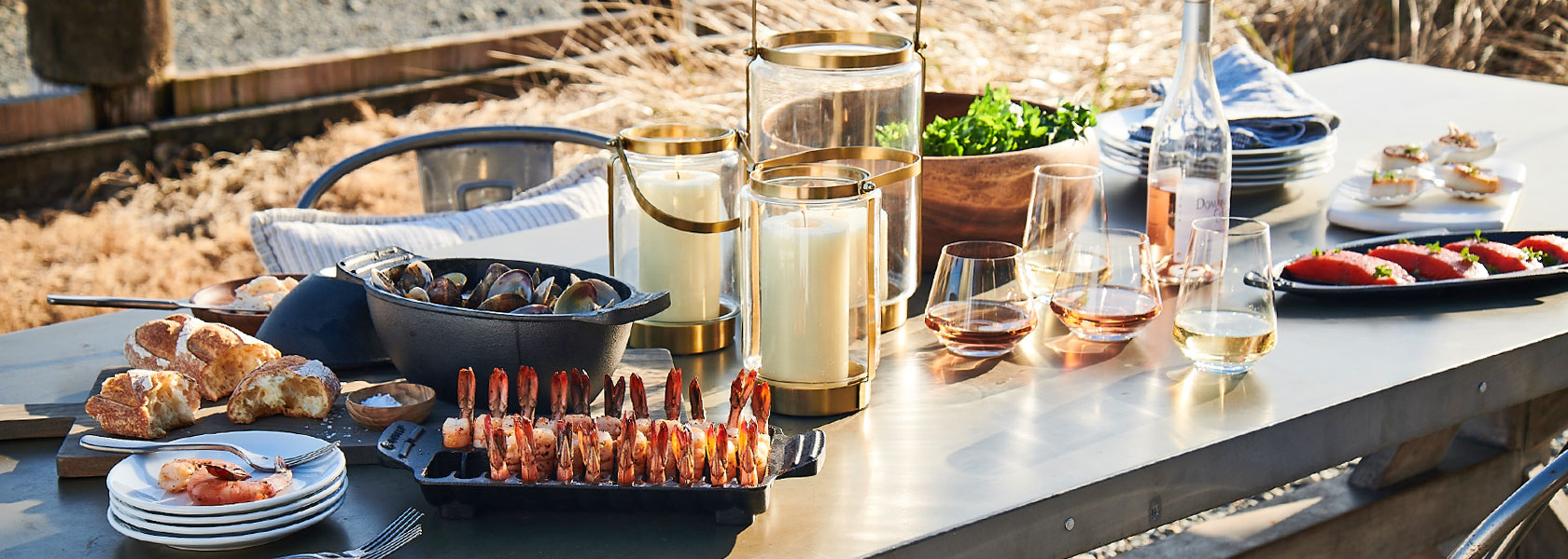 Sur La Table outdoor cookware and glassware