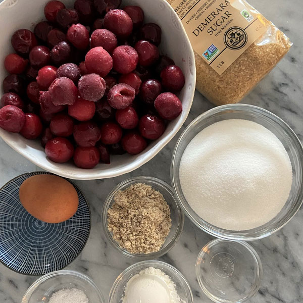 ingredients for Sweet Cherry Hand Pies