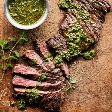 South American Steak with chimichurri sauce