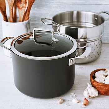 La Marque 84 Nonstick Stockpot with Pasta Insert, 8 qt.